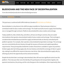 Blockchain and the new face of decentralization