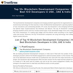 Top 100+ Blockchain Development Companies in India & USA