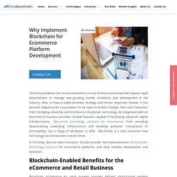Why Implement Blockchain for Ecommerce Platform Development