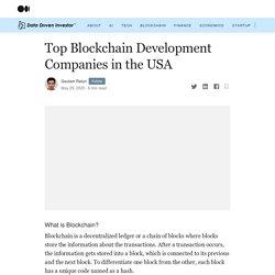 Top Blockchain Development Companies in the USA