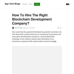 How To Hire The Right Blockchain Development Company?