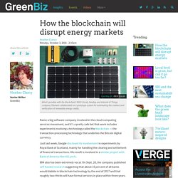 How the blockchain will disrupt energy markets