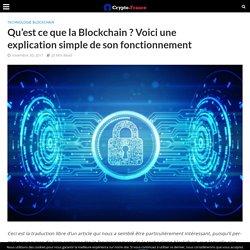Qu'est ce que la Blockchain ? Définition & Explication simple pour les nuls !