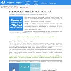 La Blockchain face aux défis du RGPD