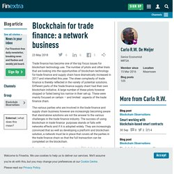 Blockchain for trade finance: a network business