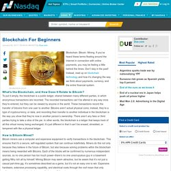 Blockchain For Beginners - NASDAQ.com