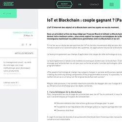 IoT et Blockchain : couple gagnant ? (Partie 1)