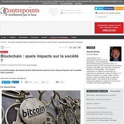 Blockchain : quels impacts sur la société