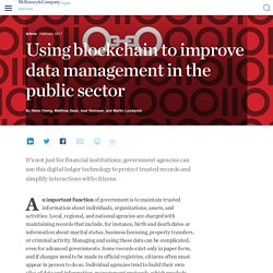 Using blockchain to improve data management in the public sector