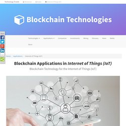 Blockchain Internet of Things (IOT) Explained