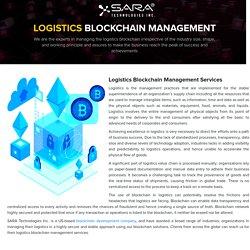 Logistics Blockchain Management Services