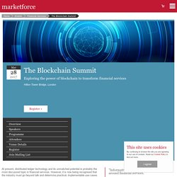 The Blockchain Summit - Marketforce Blockchain Conference