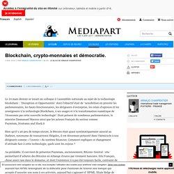 Blockchain, crypto-monnaies et démocratie.