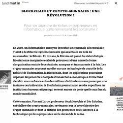 Blockchain et crypto-monnaies : une révolution ?