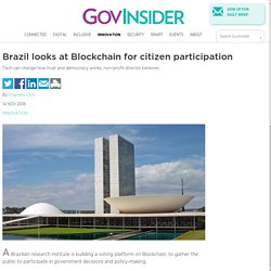 Brazil looks at Blockchain for citizen participation