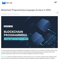 Top 10 Blockchain Programming Languages to Learn in 2021