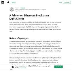 A Primer on Ethereum Blockchain Light Clients – zk Capital Publications