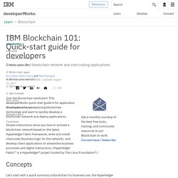 Blockchain 101: Quick-start guide for developers