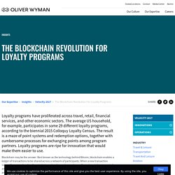 The Blockchain Revolution For Loyalty Programs