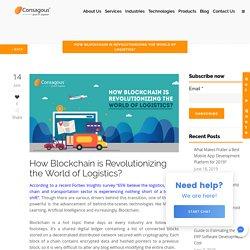 How Blockchain is Revolutionizing the World of Logistics?