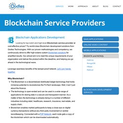 Blockchain Service Providers