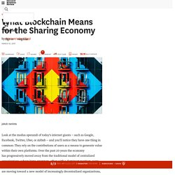 What Blockchain Means for the Sharing Economy