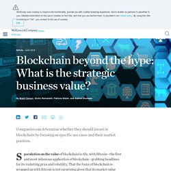 Blockchain beyond the hype: What is the strategic business value?