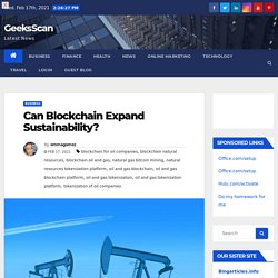 Can Blockchain Expand Sustainability?