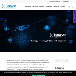 Reimagine your Supply Chain with Blockchain - Katalyst Technologies
