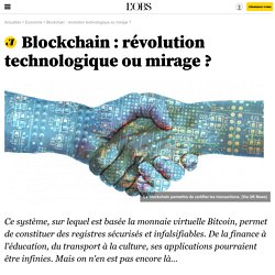 Blockchain: révolution technologique oumirage ? - 14 février 2016