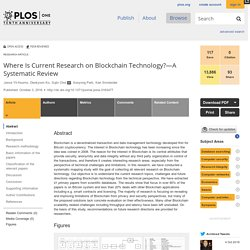 Where Is Current Research on Blockchain Technology?—A Systematic Review