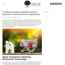 What is Blockchain for Major Companies Adopting the Technology