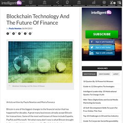 Blockchain Technology And The Future Of Finance
