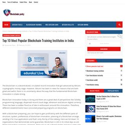 Top 10 Most Popular Blockchain Training Institutes in India
