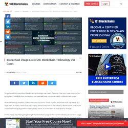 Blockchain Usage: List of 20+ Blockchain Technology Use Cases