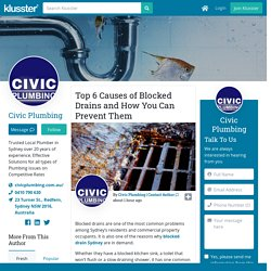 Top 6 Causes of Blocked Drains and How You Can Prevent Them