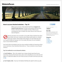 How to access blocked websites – Top 10
