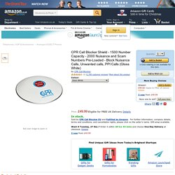 CPR Call Blocker Shield - 1500 Number Capacity - 2000 Nuisance and Scam Numbers Pre-Loaded