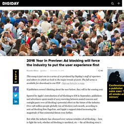 2016 Year in Preview: Ad blocking will force the industry to put the user experience first