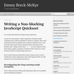 Writing a Non-blocking JavaScript Quicksort - Jimmy Breck-McKye