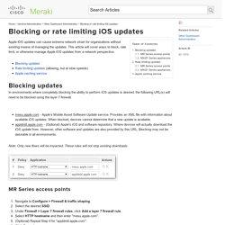 Blocking or rate limiting iOS updates - Cisco Meraki