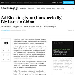 Ad Blocking Is an (Unexpectedly) Big Issue in China