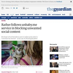 Rather follows unbaby.me service in blocking unwanted social content