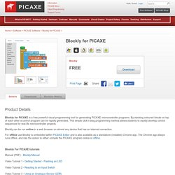 Blockly for PICAXE - Software