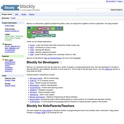 blockly - A visual programming language