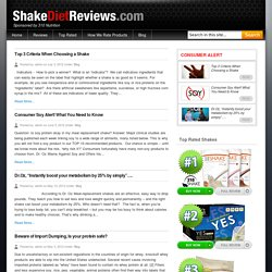 Healthy Eating & Living Blog By Shakedietreviews