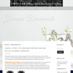 Simple Steps To Consider Before Buying Black Diamond Earrings