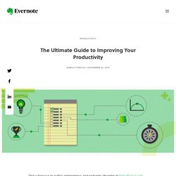 The Ultimate Guide to Improving Your Productivity