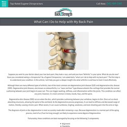 BLOG - What Can I Do to Help with My Back Pain