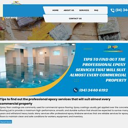 Tips to find out the professional epoxy services that will suit almost every commercial property